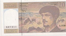 20 FRS DEBUSSY NEUF  A 058 1997 - 1962-1997 ''Francs''