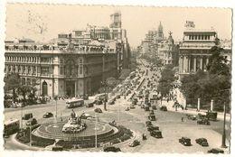 Panoramique De La Place De La Cybéle Et Rue D'Alcala - MADRID - Madrid