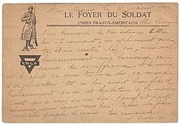 FRANCHISE MILITAIRE - Y.M.C.A.- CORRESPONDANCE MILITAIRE - FOYER DU SOLDAT - WW1 - - Cartes De Franchise Militaire