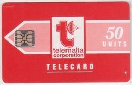220/ Malta; P1. Telemalta Logo, 50 Ut., CN 35224, Matt - Malta