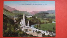 LOURDES- La Basilique Vue Du Fort - Lourdes