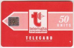 221/ Malta; P1. Telemalta Logo, 50 Ut., CN 35430, Matt - Malta