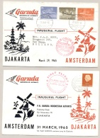 Indonesia / Nederland - 1965 - 1st Garuda Flight Djakarta Amsterdam & Amsterdam - Djakarta - Indonesia