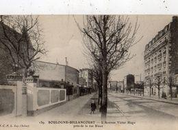 BOULOGNE-BILLANCOURT L'AVENUE VICTOR HUGO PRES DE LA RUE RIEUX - Boulogne Billancourt