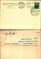 8259a)  Cartolina Con 8 Lire Democratica Da Monza A Catania 1-3-48 - 6. 1946-.. Repubblica