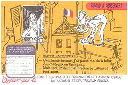 B Bt/ Buvard Batiment CCC A Nancy (Format 21 X 13.5) (N= 5) - Buvards, Protège-cahiers Illustrés