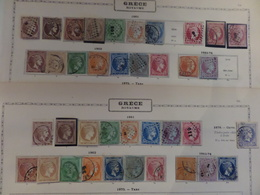 """Grèce Exceptionnelle Collection De + De 400 """"têtes D'Hermes"""" 1861/1901. Bonnes Valeurs, Nuances, Cote énorme! A Saisir! - 1861-86 Grands Hermes"""