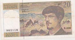 20 FRS DEBUSSY  N 036 - 1962-1997 ''Francs''