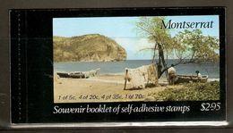 MONTSERRAT 1975 $2.95 CARIB ARTEFACTS SELF- ADHESIVE STAMPS FULL BOOKLET - Montserrat