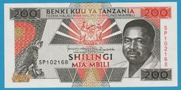 TANZANIA 200 Shilingi   President Ali Hassan Mwinyi Sign.11ND (1993)Serie SP P# 25b - Tanzanie