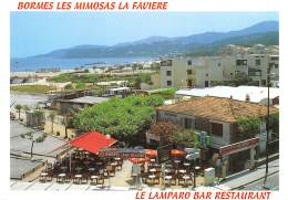 BORMES LES MIMOSAS LA FAVIERE Le Lamparo Bar Restaurant 20(scan Recto-verso) MA1719 - Bormes-les-Mimosas