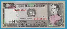 BOLIVIA 1.000 Pesos Bolivianos D.25.06.1982Série K  P# 167 - Bolivia
