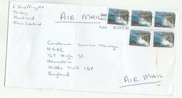 2003 NEW ZEALAND COVER Multi TONGAPORUTU CLIFFS Stamps To GB - New Zealand