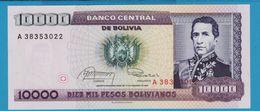 BOLIVIA 10.000 Pesos Bolivianos D.10.02.1984Série A  P# 169 - Bolivia