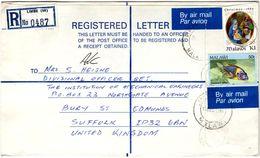 Lettre Recommandée De Limbe  (16.12.1986) Pour Sufolk_Aulonacara_Christmas 1986 - Malawi (1964-...)