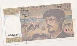 20 FRS DEBUSSY  S 046 1993 - 1962-1997 ''Francs''