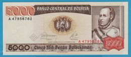 BOLIVIA 5.000 Pesos Bolivianos D.10.02.1984Série A  P# 168 - Bolivia