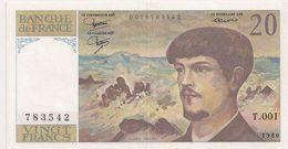 20 FRS DEBUSSY  NEUF 1980 T 001 - 1962-1997 ''Francs''