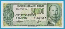 BOLIVIA 50.000 Pesos Bolivianos D.05.06.1984Série A  P# 170 - Bolivia