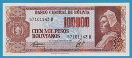 BOLIVIA 100.000 Pesos Bolivianos D.05.06.1984Série B  P# 171 - Bolivia