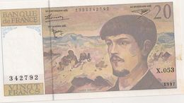 20 FRS DEBUSSY  NEUF X 053 1997 - 1962-1997 ''Francs''