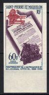 Saint-Pierre-et-Miquelon Poste Aérienne N° 37 ** Non Dentelé - Non Dentellati, Prove E Varietà