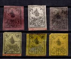 Turquie Six Classiques 1863. Bonnes Valeurs. A Saisir! - 1858-1921 Empire Ottoman