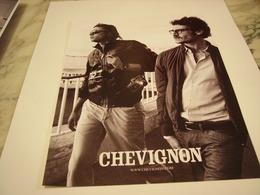 PUBLICITE AFFICHE VETEMENT CHEVIGNON - Vintage Clothes & Linen