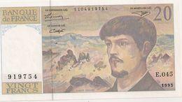20 FRS DEBUSSY  NEUF E 045  1993 - 1962-1997 ''Francs''