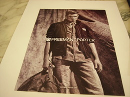 PUBLICITE AFFICHE VETEMENT FREEMAN.PORTER - Vintage Clothes & Linen