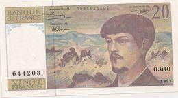20 FRS DEBUSSY  NEUF  O 040 1993 - 1962-1997 ''Francs''
