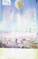 Telecarte  JAPON * SPORT * MONTGOLFIERE (1456) Hot Air Balloon * Ballon * Aerostato  * TELEFONKARTE * PHONECARD JAPAN * - Sport