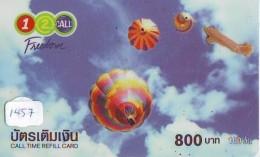 Telecarte  JAPON * SPORT * MONTGOLFIERE (1457) Hot Air Balloon * Ballon * Aerostato  * TELEFONKARTE * PHONECARD JAPAN * - Sport
