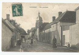 89 Yonne Vinneuf Rue Principale Animée - Autres Communes