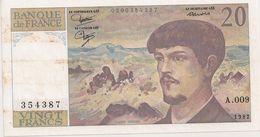 20 FRS DEBUSSY   A 009 1982 - 1962-1997 ''Francs''