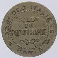 Jeton Du Salon Du Phonographe à Paris - France