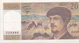 20 FRS DEBUSSY Z 018  1987 - 1962-1997 ''Francs''