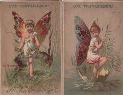 2 Chromos Anciens/Grds Mag. Nouv./Aux Travailleurs/Chapeaux De Paille/Bd Voltaire/PARIS/Courbe-Rouzet/Vers1890   IMA354 - Other