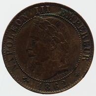 Napoléon III - 1 Centime - 1862 A - France