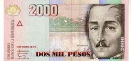 Colombia P.457 2000 Pesos  30.08.2013 Unc - Colombia