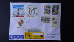 Turkey - 2017 - Envelope/registered Mail With Several Stamps- Look Scan - Cartas