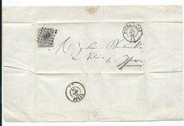TB:  Lac De Poperinghe Vers Ypres Du 23 Oct 66 Affranchi Avec N·17 Oblitéré L299 - 1865-1866 Linksprofil