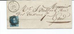 Lot Reserve Ricsan :  Lac De Ath Vers Gand Du 4 Mars 1859 + Nr 10 Sur Lettre 1859 - De Clermont Sous Huy Vers Sclayn - 1858-1862 Médaillons (9/12)