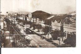 SANTOS AVENIDA COSELHEITO NEBIAS.viaggiata--1928-fp-n.4743 - Brazil