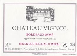 ETIQUETTE DE VIN BORDEAUX ROSE - Bordeaux