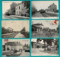 48 CP Avec Trains LA JUMELLIERE_GARGENVILLE_2 Sans Trains ROMESCAMPS_PONTHLERRY+ Mineurs Pressoir Bourguignon Etc N °030 - Postcards