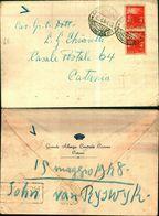 8365a) Busta  Con 2 Valori Da 4lire Democratica 15-5-48 Da  Catania X Catania - 6. 1946-.. Repubblica