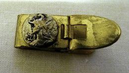 Ancienne Petite Pince à Billets Décorée D'un Médaillon Minerve Argenté - Bijoux & Horlogerie