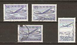 Finlande - 1958/63 - PA Poste Aérienne  - Petit Lot De 4° - 5,6,8,9 - Stamps