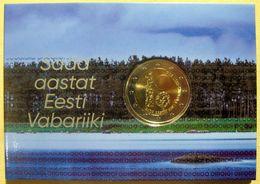 ESTLAND ESTONIA 2018 - 2 EURO 100 Jahre REPUBLIC COIN CARD UNZ - Estonia